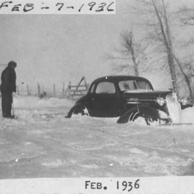 Frozen Car, Twin Bridges, MT, 1936