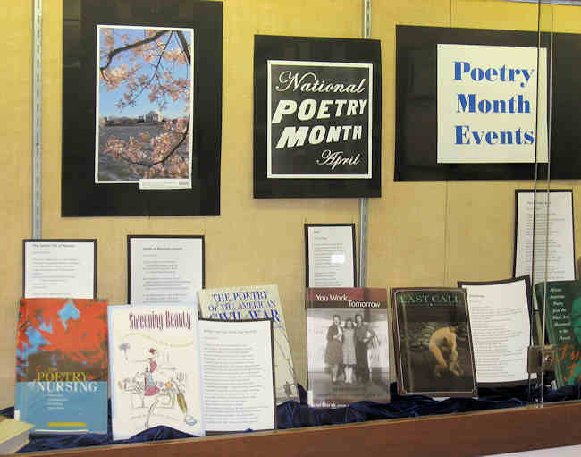 Poetry Month display