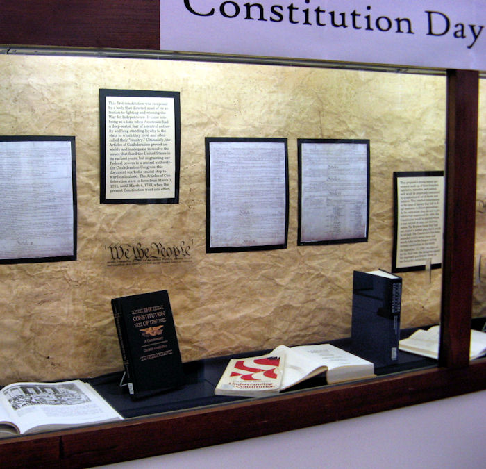 Constitution Day display
