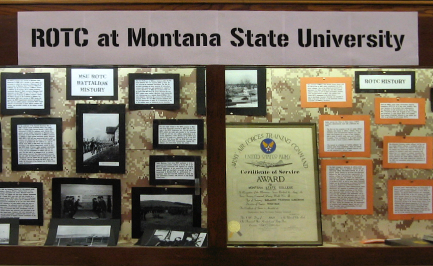ROTC at Montana State University display