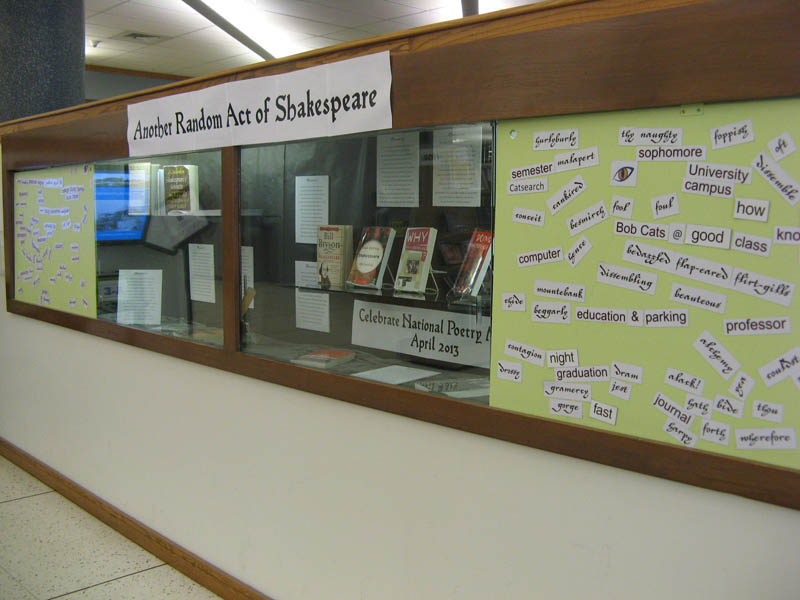 Celebrate National Poetry Month at the MSU Library with Shakespeare and magnetic poetry