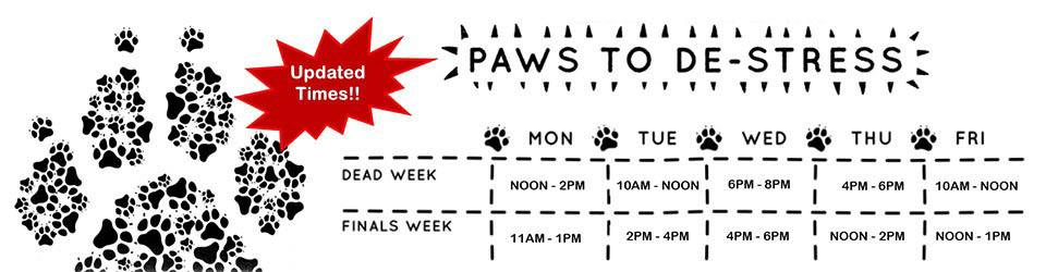 calendar for paws to destress