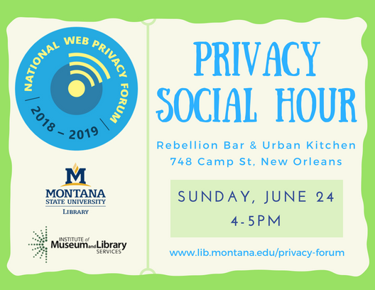 promo image for the privacy social hour