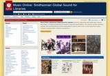 screenshot for Smithsonian Global Sound property=