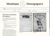 screenshot for Montana Newspapers property=