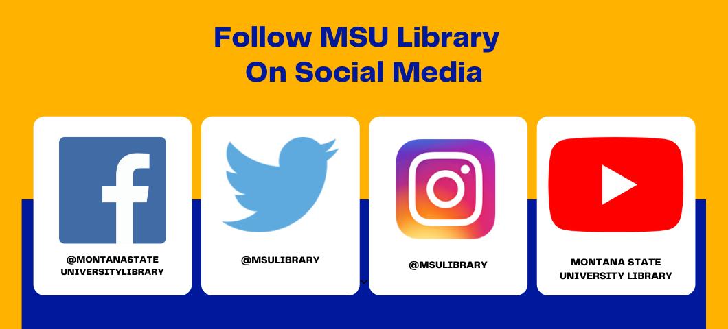 Follow MSU Library on Social Media