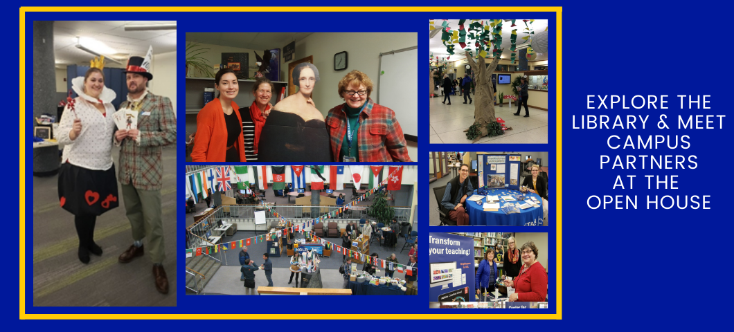 Explore the library and meet campus partners at the Open House