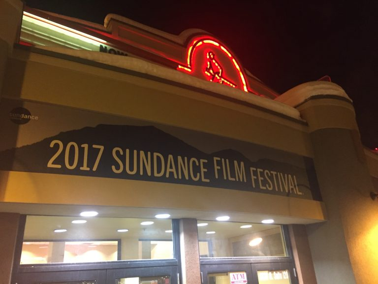 image of front of theatre advertising 2017 Sundance Film Festival