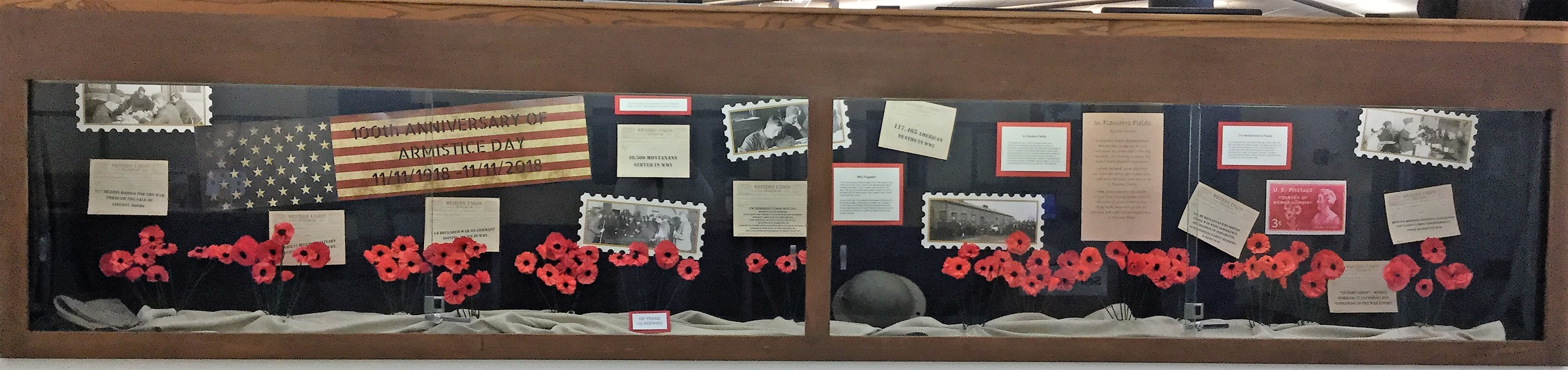 Cropped image of the whole Armistice Display