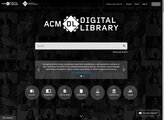 screenshot for ACM Digital Library property=
