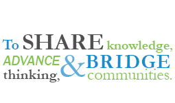 Why Give image which says to share knowledge, advance thinking and bridge communities